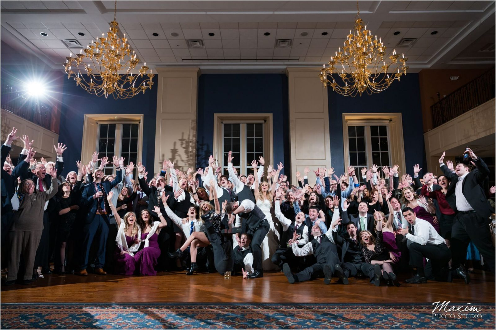 Party Pleasers The Grand Covington Wedding Reception Group Photo
