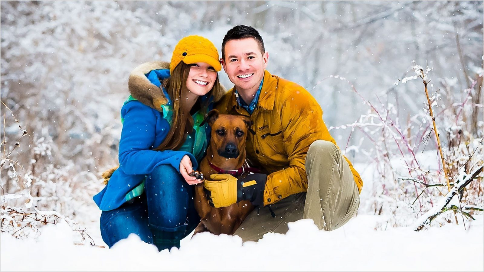 Winton Woods Cincinnati Snow Engagement