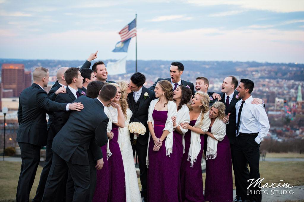 Ault Park Covington KY Wedding Party
