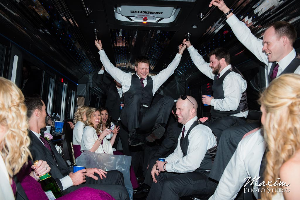 Motortoys Cincinnati Ohio Wedding Party Bus