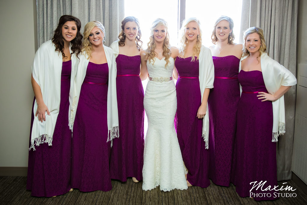 Hyatt Cincinnati Ohio Wedding bridesmaids