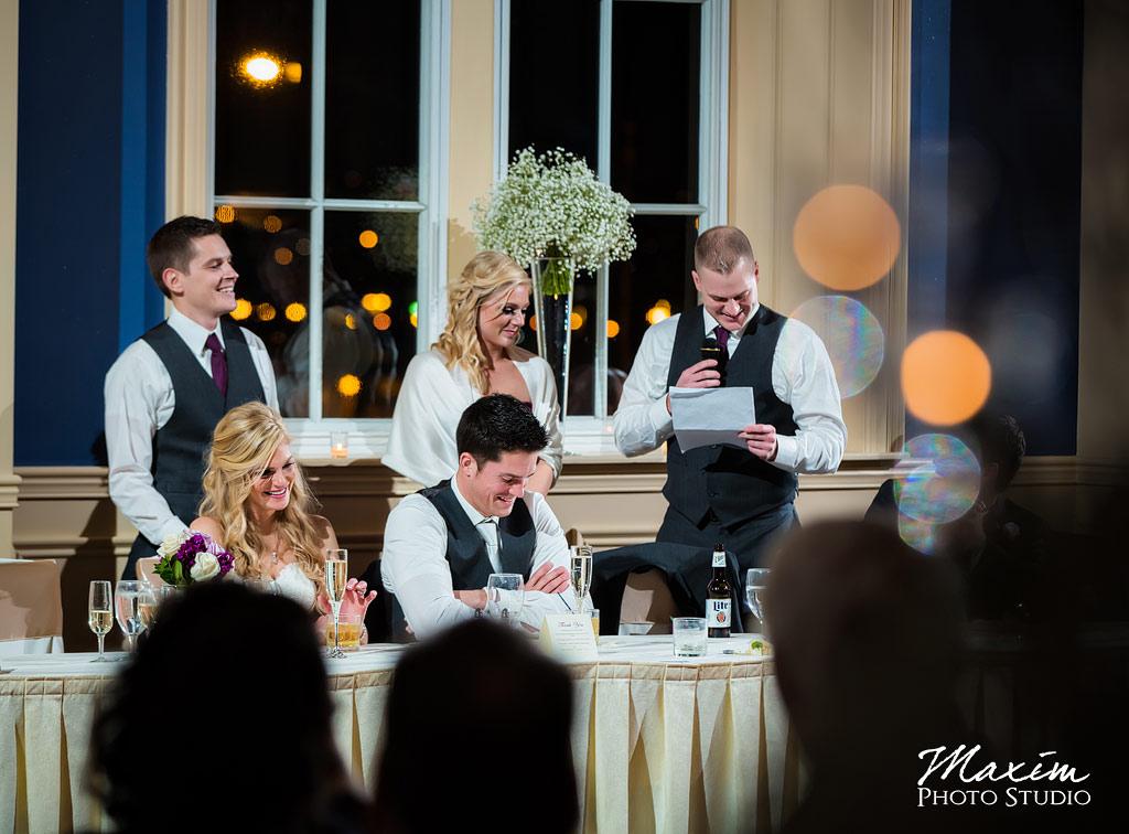 The Grand Covington KY Wedding Reception Toast