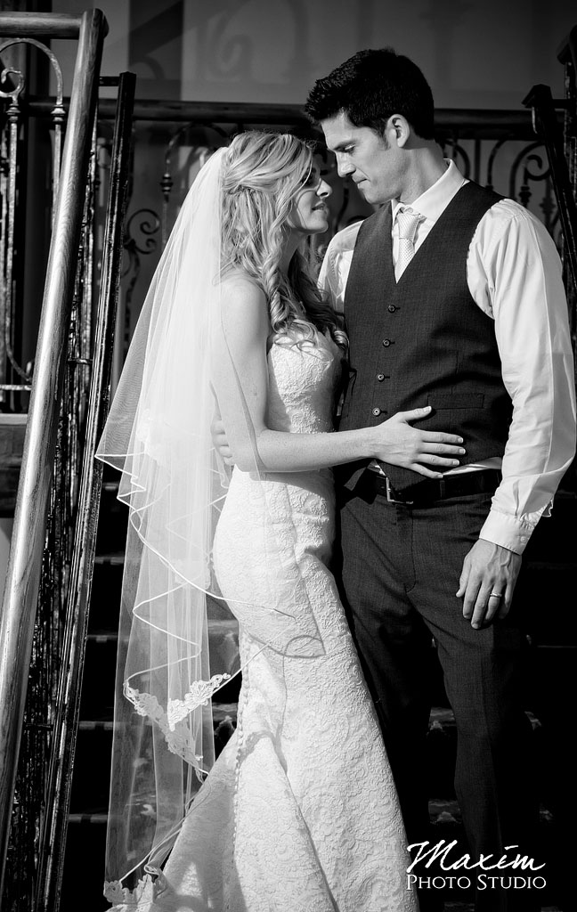 The Grand Covington KY Wedding Stairs Portraits