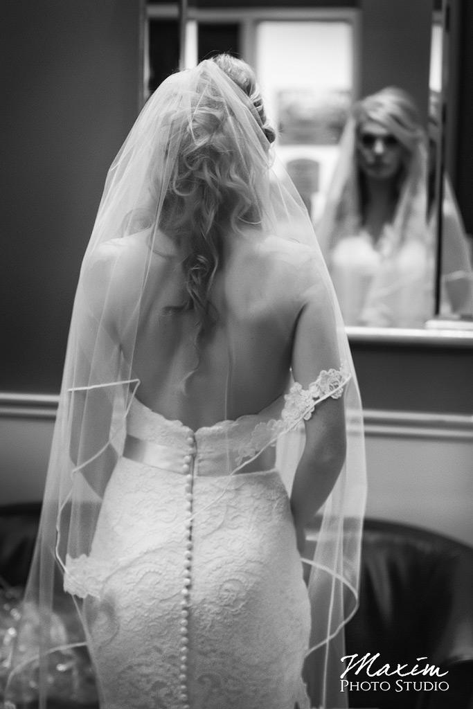 Hyatt Cincinnati Ohio Wedding Bride Veil