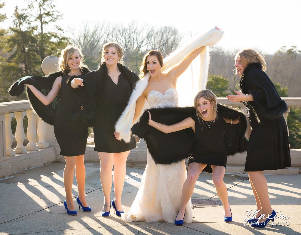 Ault Park Cincinnati Winter Wedding
