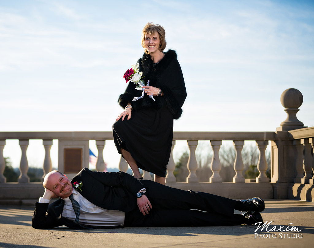 Ault Park Cincinnati Wedding Fun Portraits