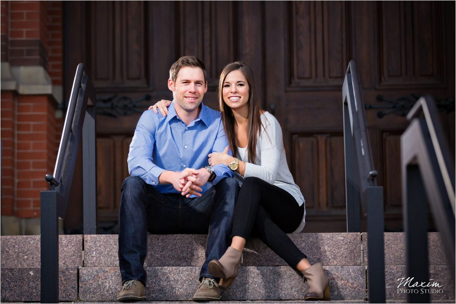 Cincinnati Wedding Photographers Music Hall Engagement