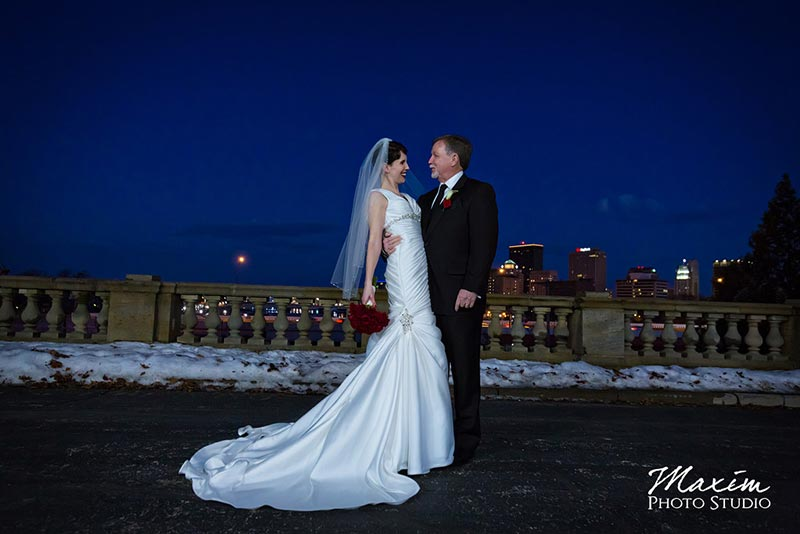 dayton art institute winter wedding