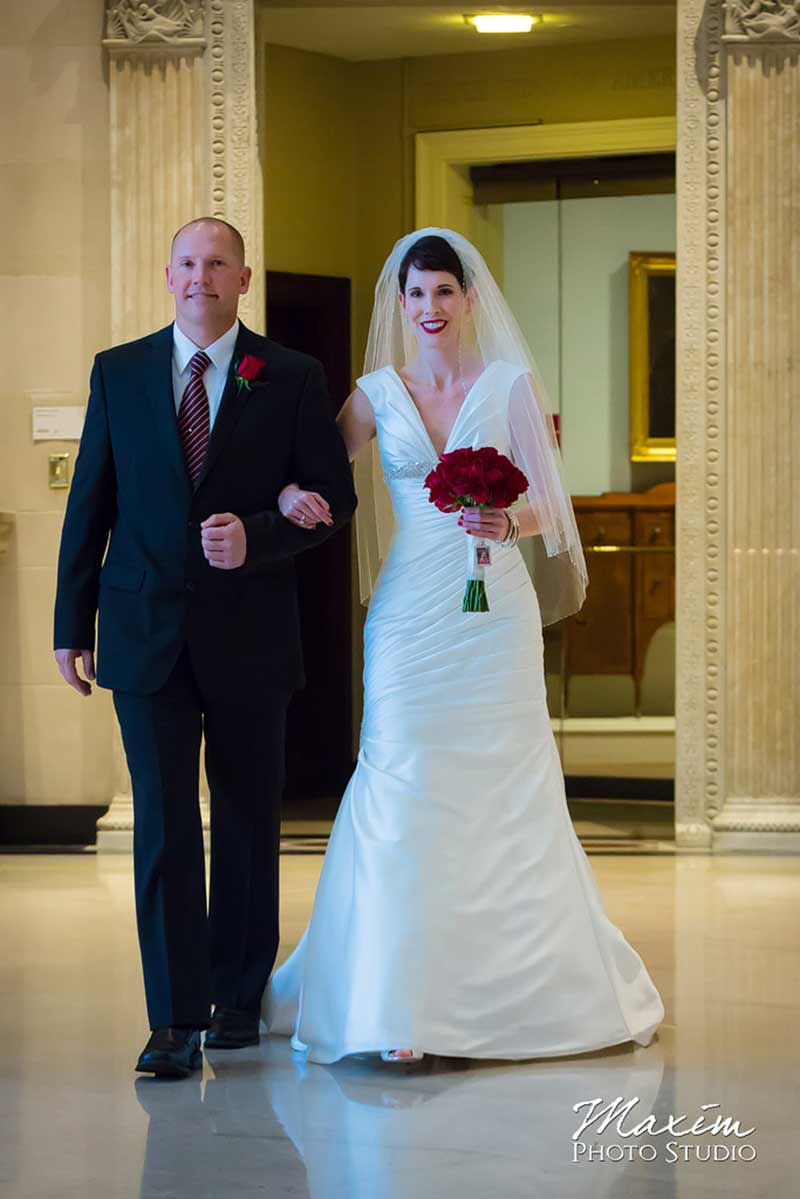 Dayton Art Institute wedding ceremony