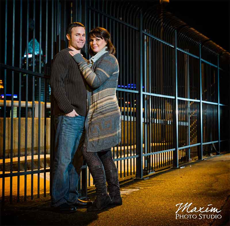 Purple People Bridge Cincinnati Engagement Photography