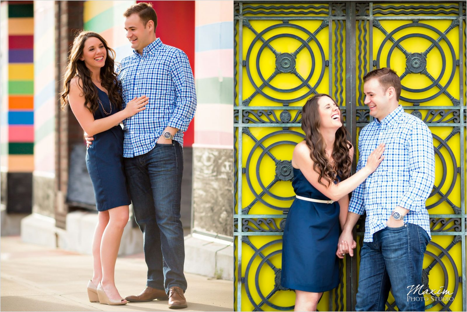 Downtown Cincinnati Wedding Photographers Engagement Bride Groom