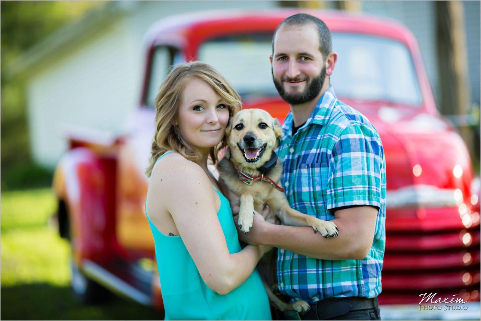Dayton Wedding Photographers Cox Arboretum Engagement Dog