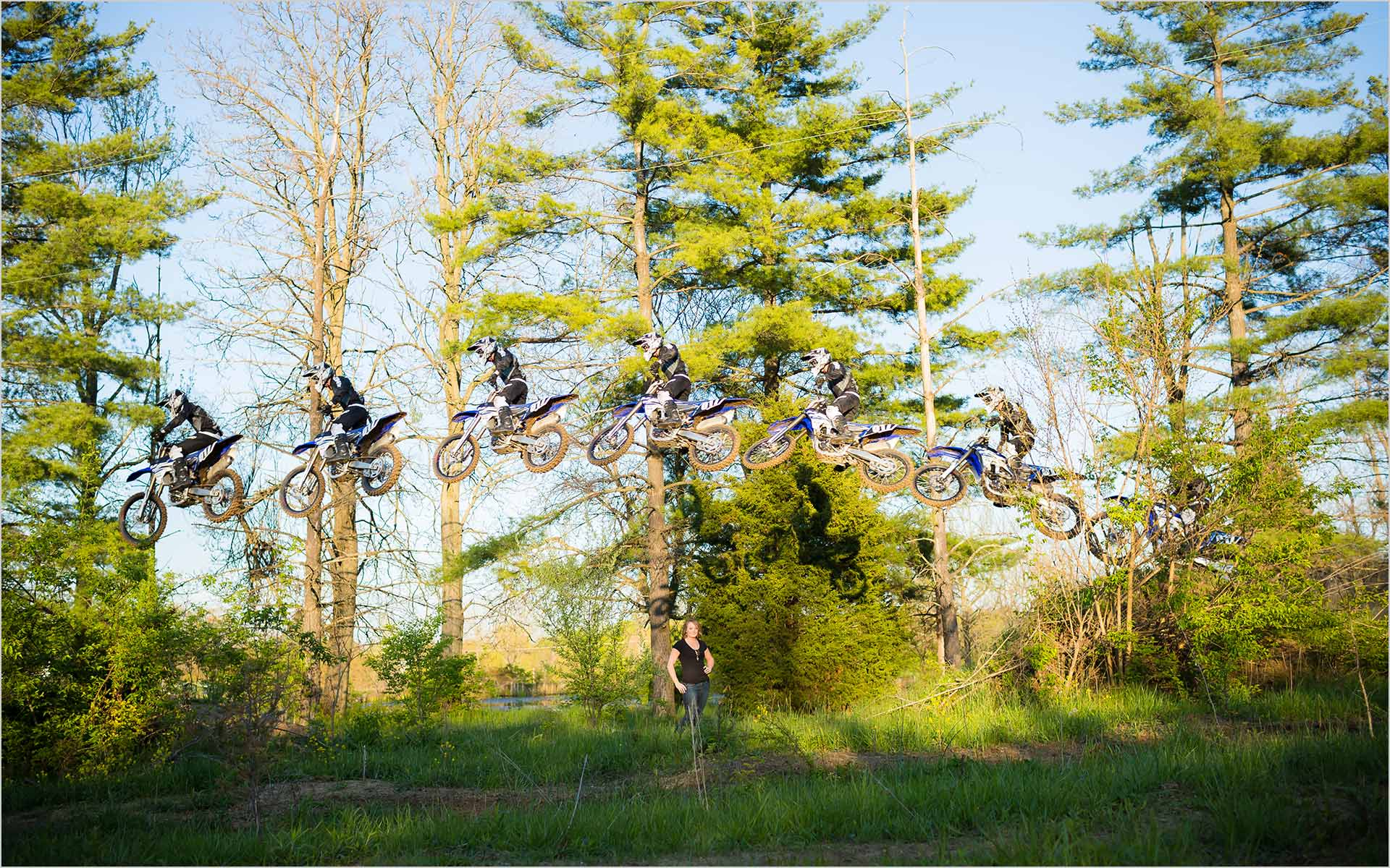 Dayton Wedding Photographers Motorcross bike engagement