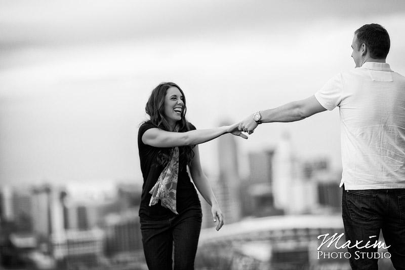 Devou Park Skyline Engagement photo