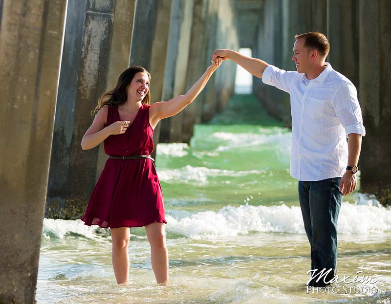 Panama City Beach Pier Engagement Photo