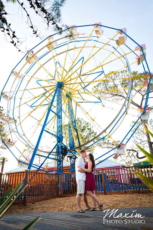 Panama City Beach Florida Ferris Wheel Engagement