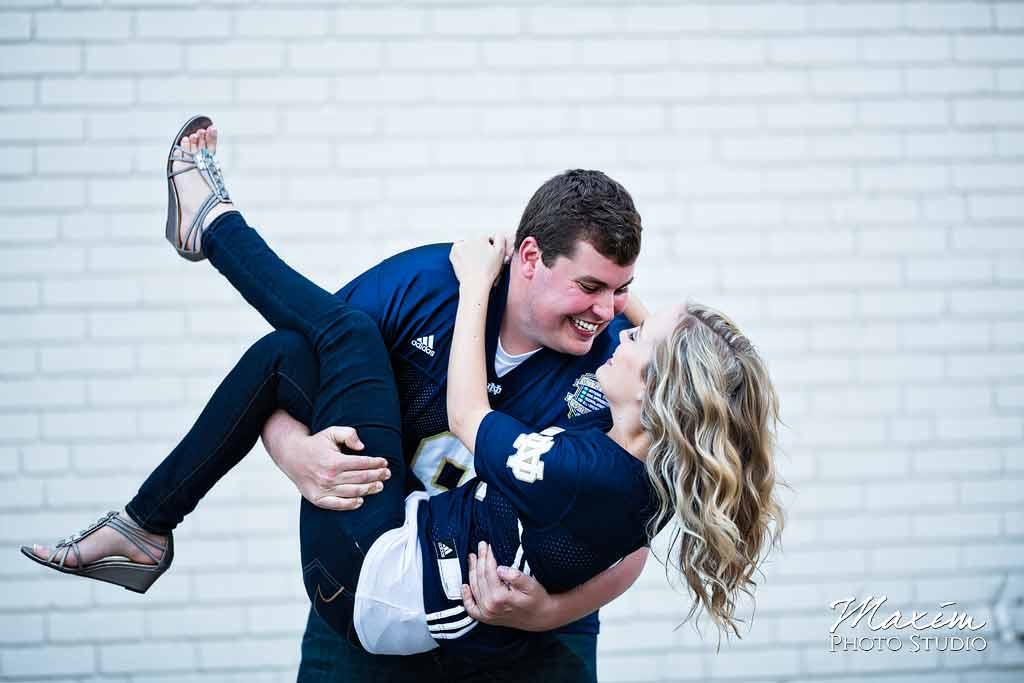 Downtown Cincinnati Engagement with Off Camera
