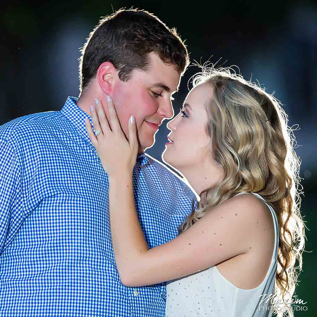 Downtown Cincinnati Engagement with Off Camera Flash