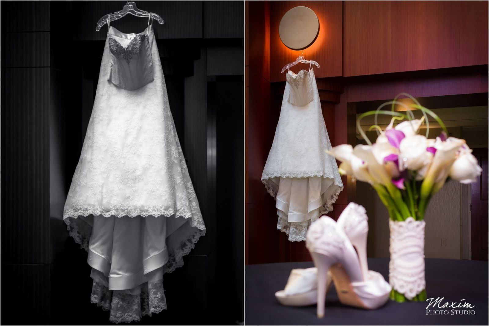 Marriott Rivercenter Covington, Cincinnati Wedding, Bride dress