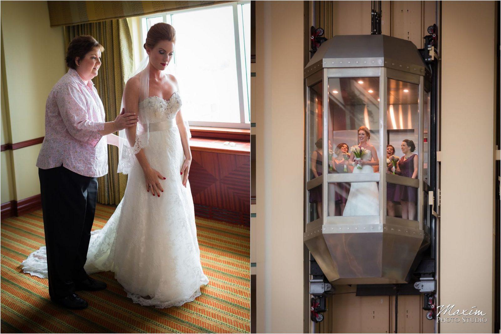 Marriott Rivercenter Covington, Cincinnati Wedding, Bride