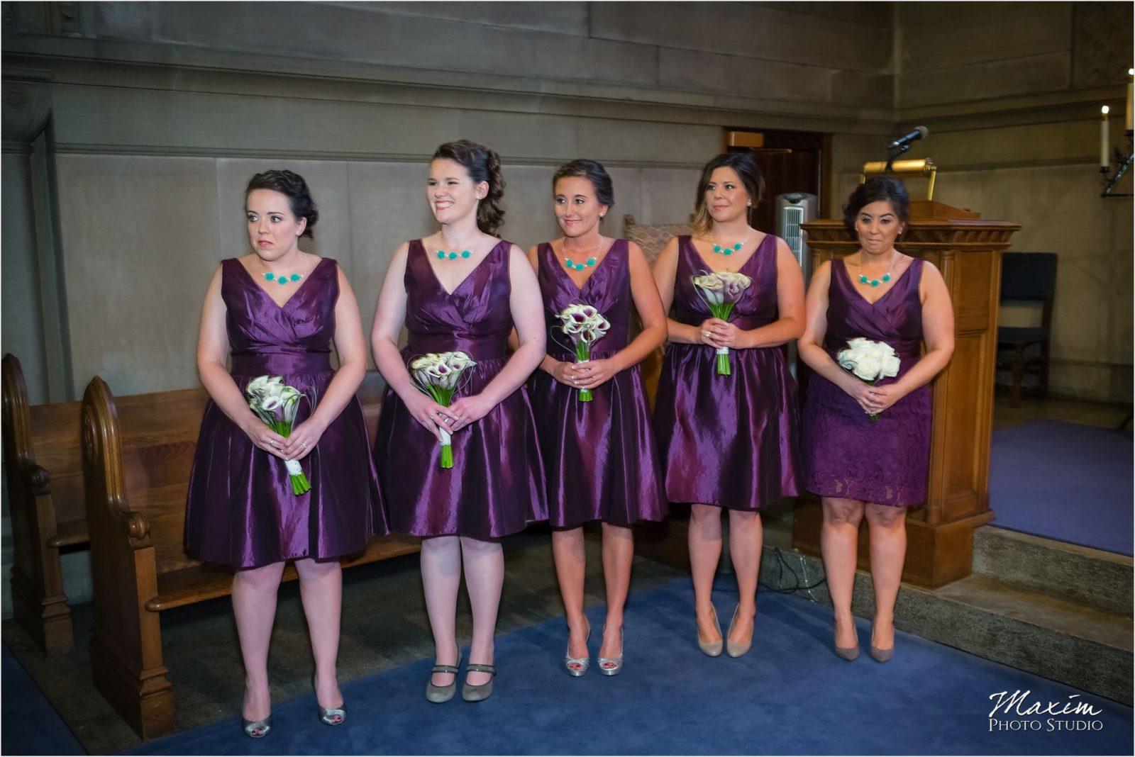 Norman Chapel, Cincinnati Wedding bridesmaids