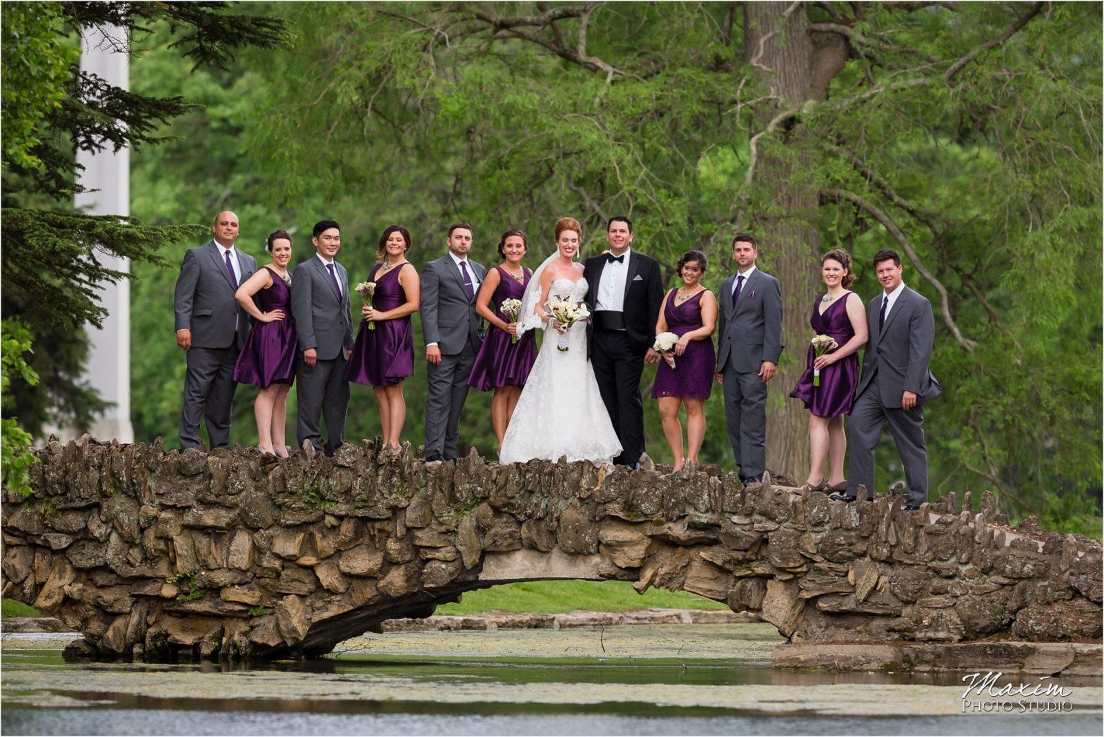Spring Grove Cemetery, Cincinnati Wedding, bridal party