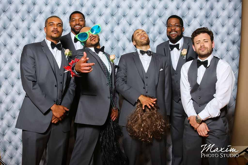 Cincinnati music hall groomsmen wedding photo booth aj 12