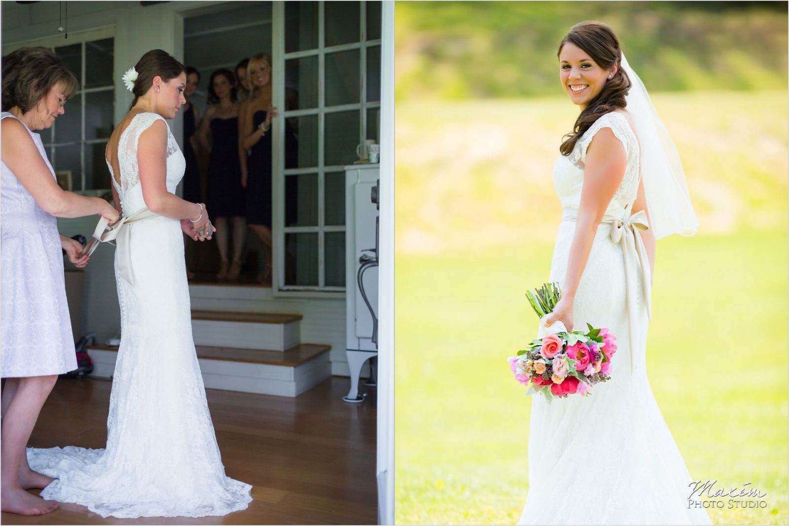 Kentucky Wedding Photographers Potato Hill Farm Wedding bride preparations
