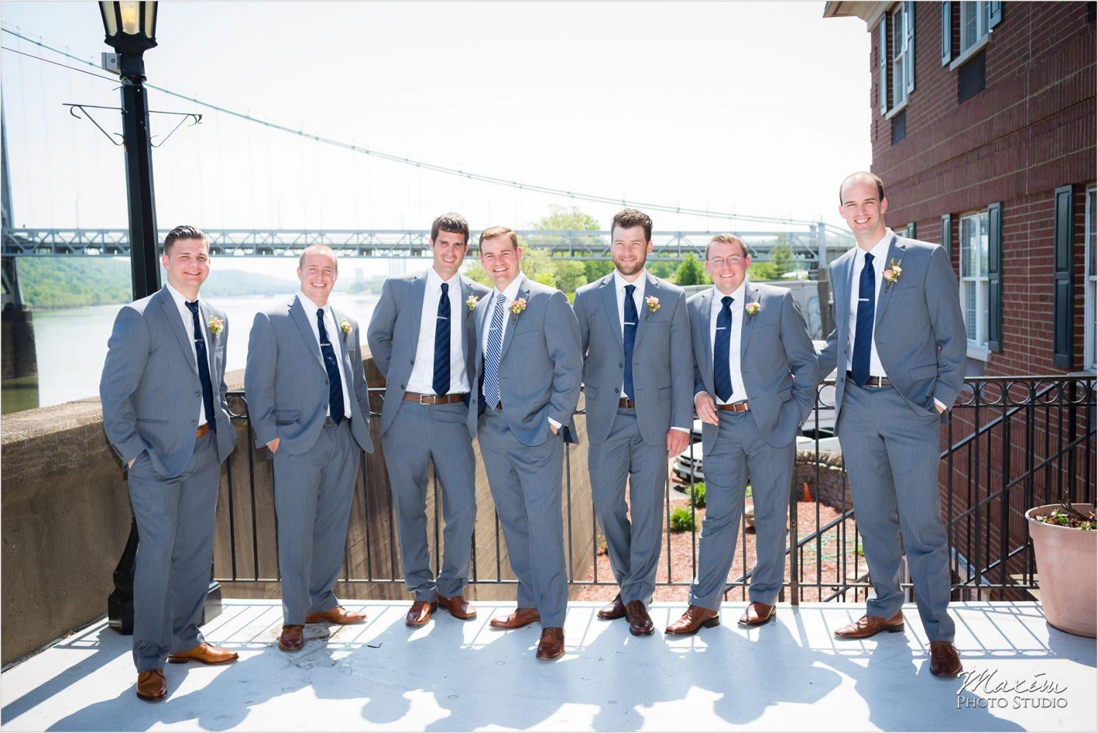 Kentucky Wedding Photographers Potato Hill Farm Wedding Groom Groomsmen