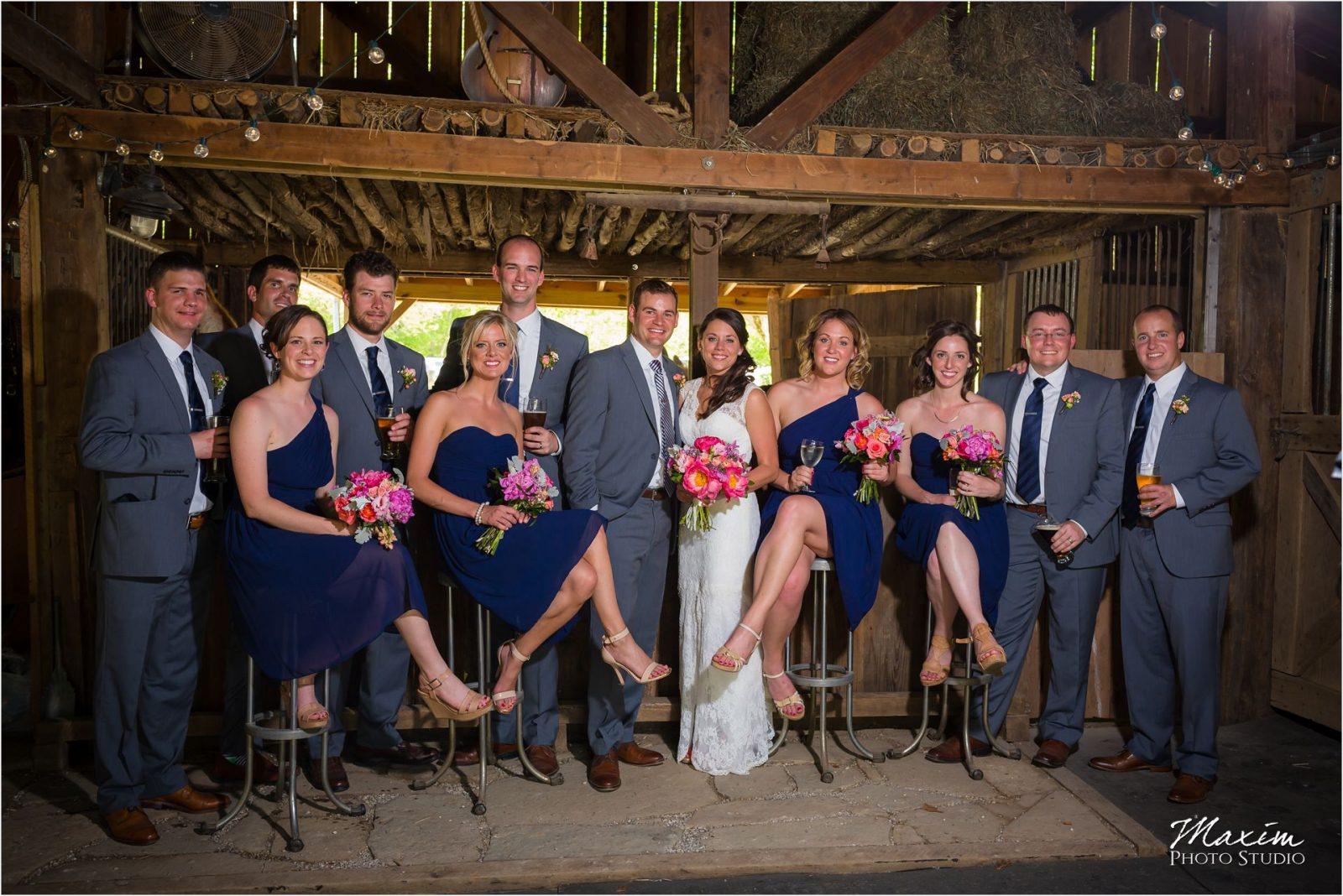Potato Hill Farm Wedding Bridal Party pictures