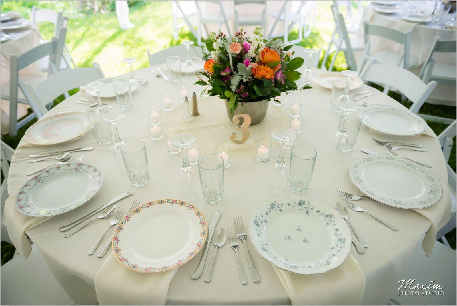 Potato Hill Farm Wedding Reception decor