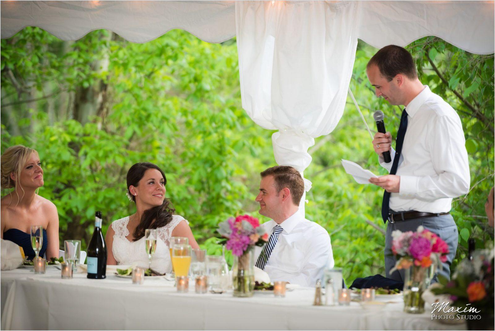 Potato Hill Farm Wedding Reception Toasts