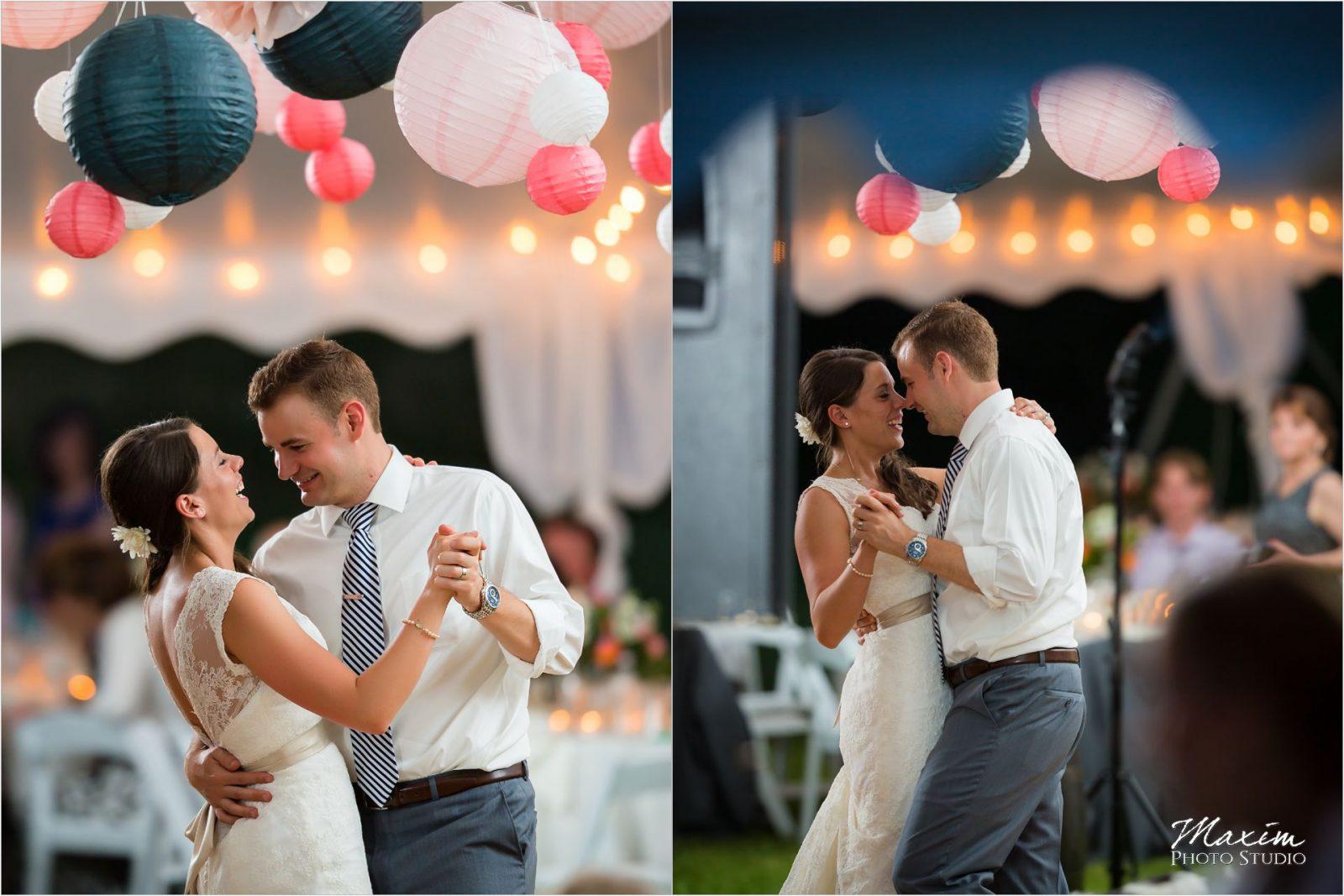 Potato Hill Farm Wedding Reception bride Groom