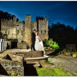 Night Loveland Castle Cincinnati Wedding Couple