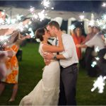 Potato Hill Farm Kentucky wedding reception sparklers