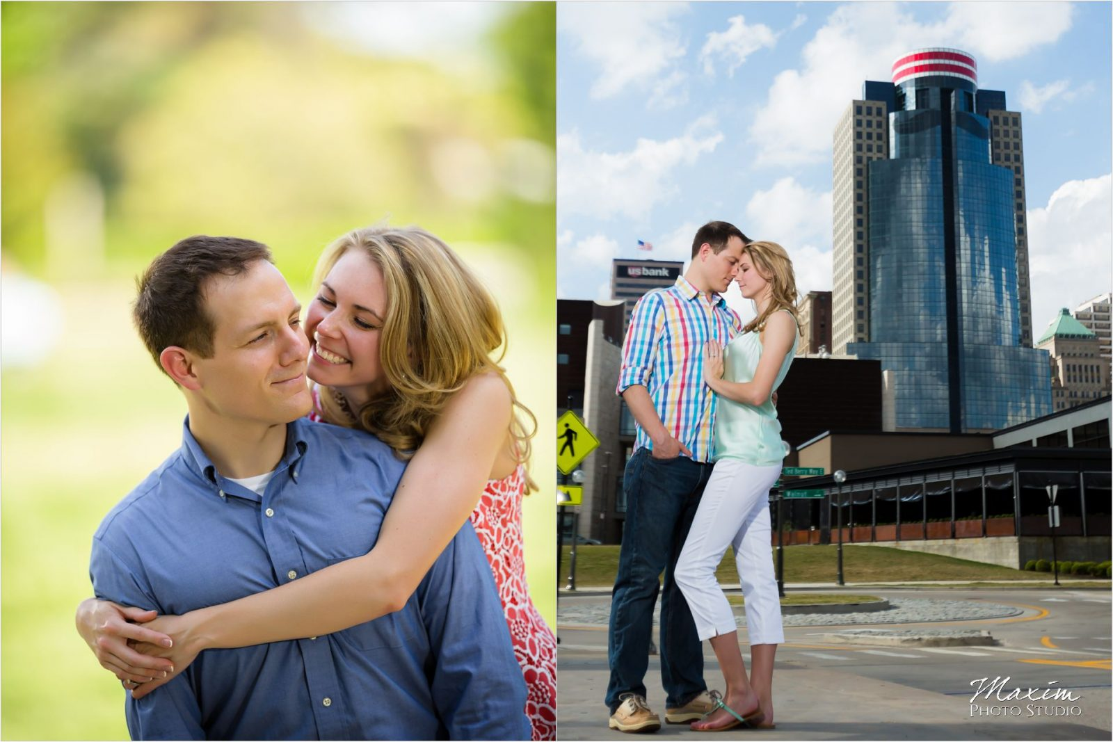 Ault Park Cincinnati Summer Engagement Downtown Cincinnati