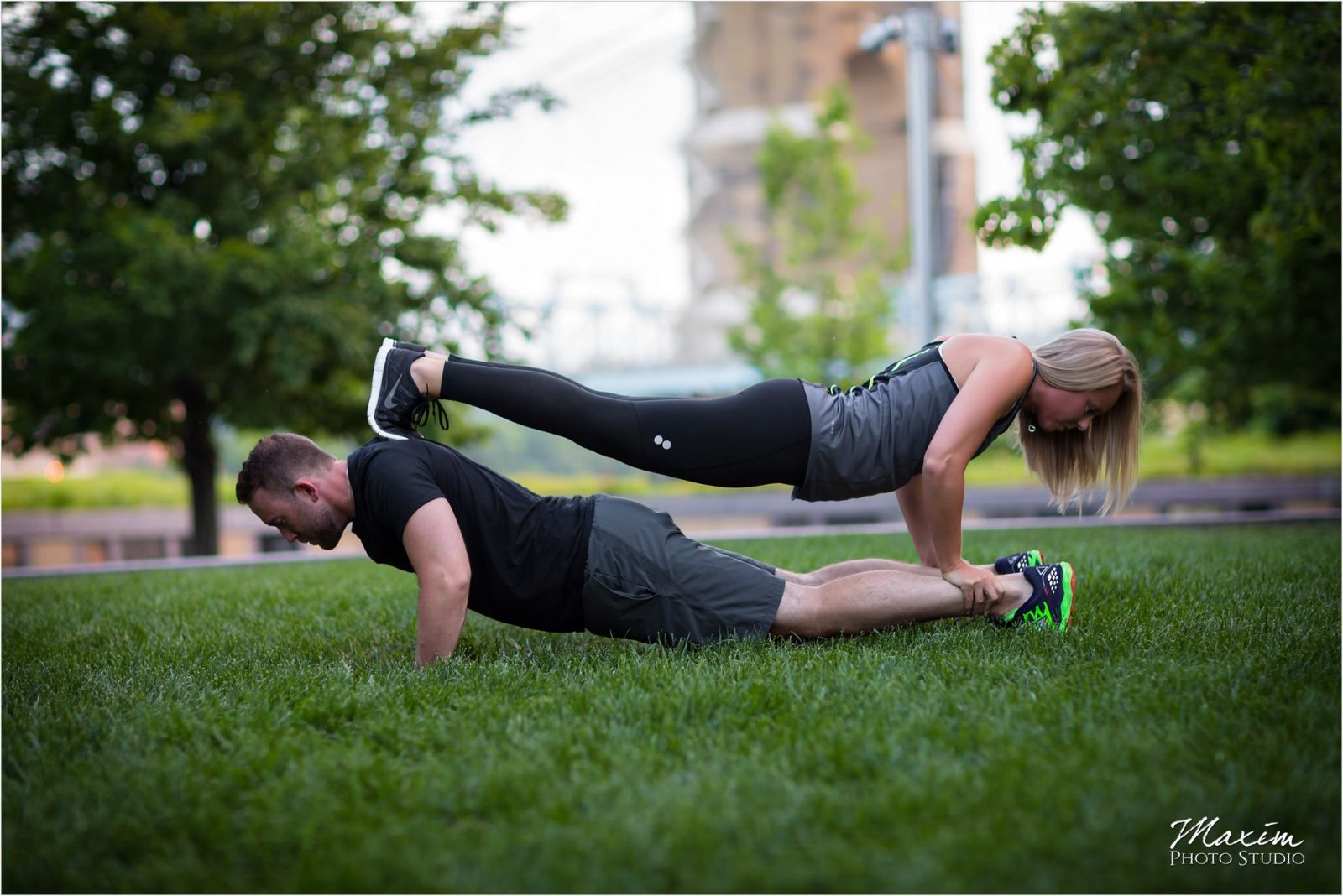 Crossfit Smale Riverfront Park Cincinnati Engagement
