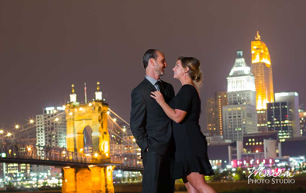 Cincinnati Wedding Photographer Roebling Bridge Engagement