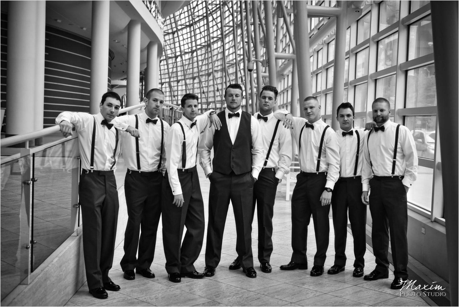 Schuster Center Dayton Ohio Wedding Groom Preparations