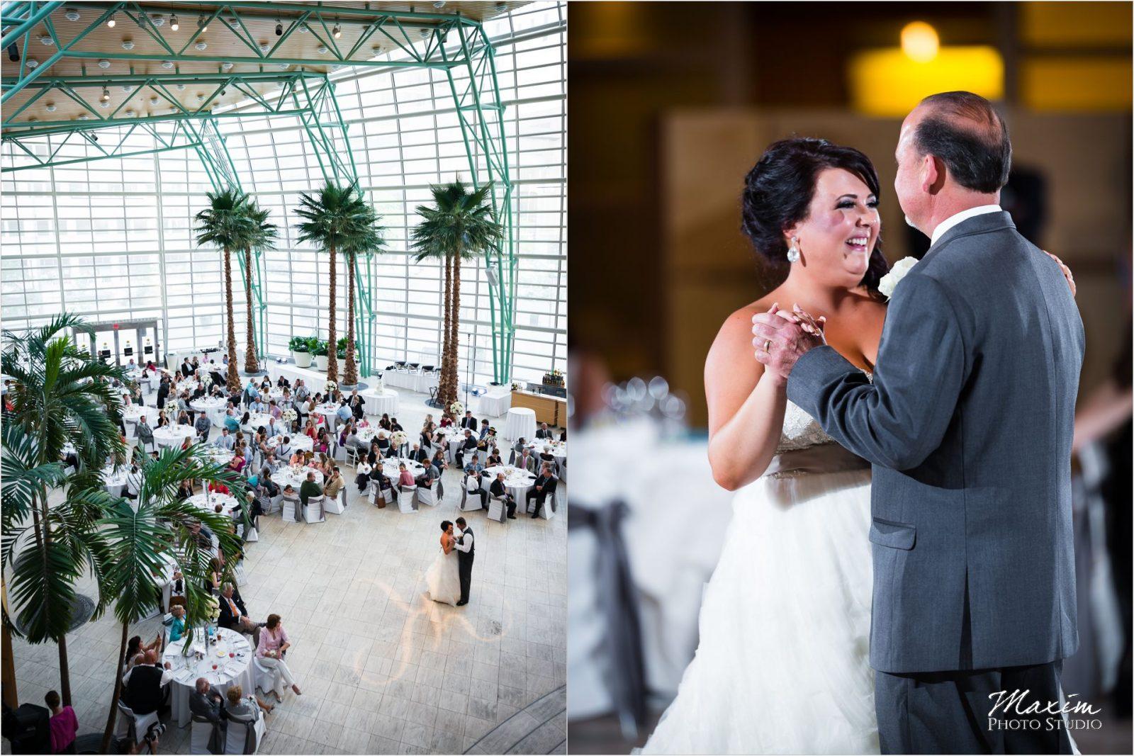 Schuster Center Wedding Reception bride dance