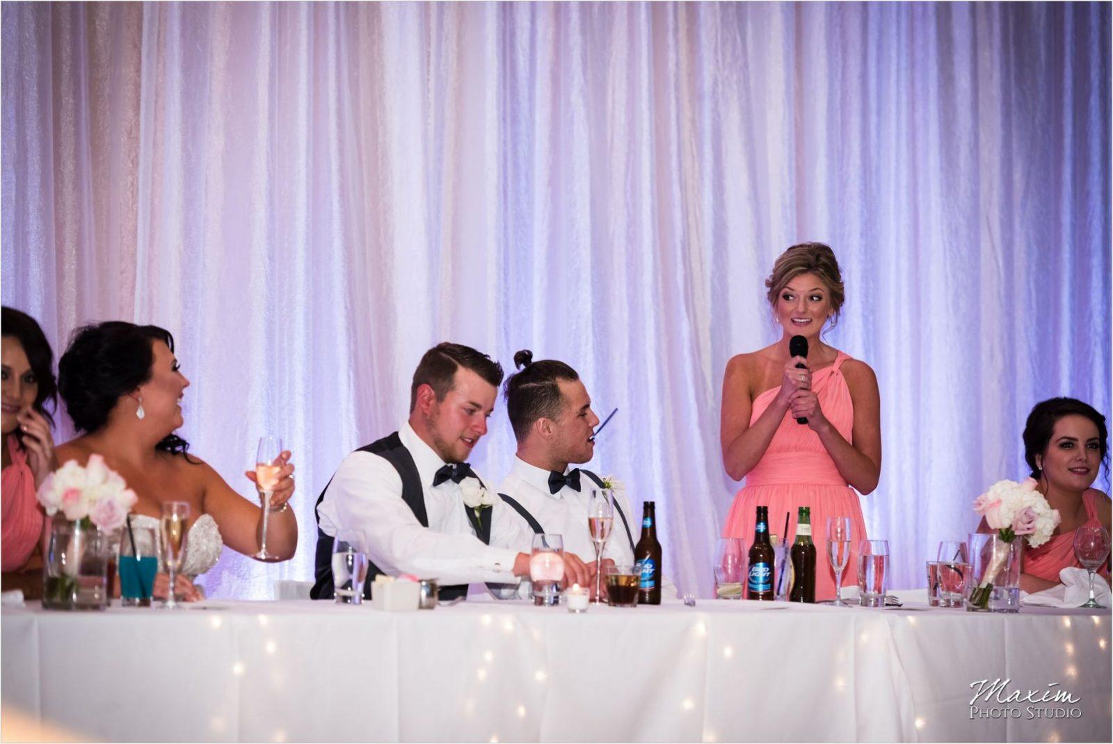Schuster Center Wedding Reception toasts