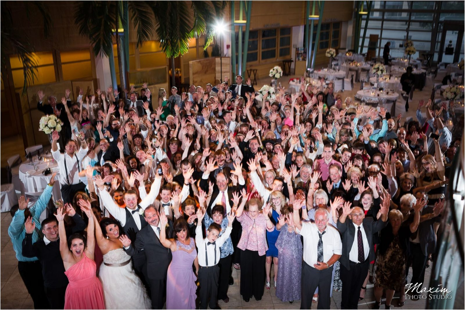 Group Photo Schuster Center Wedding party Pleasers