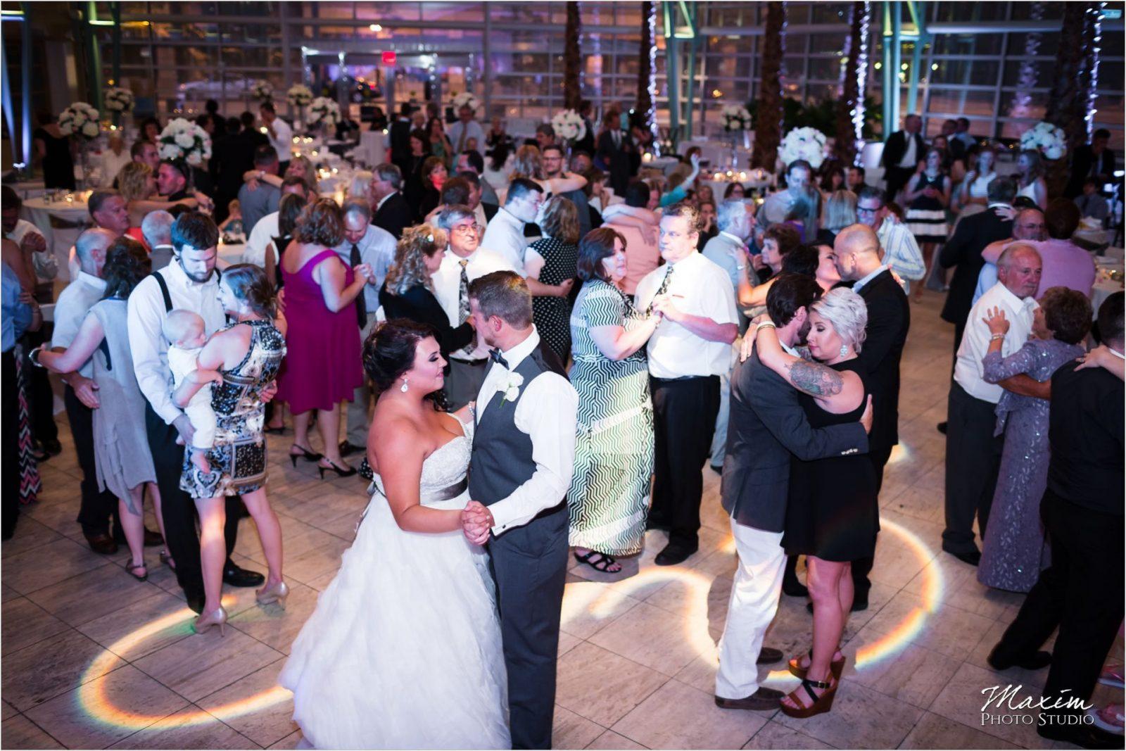 Group Photo Schuster Center Wedding reception dance