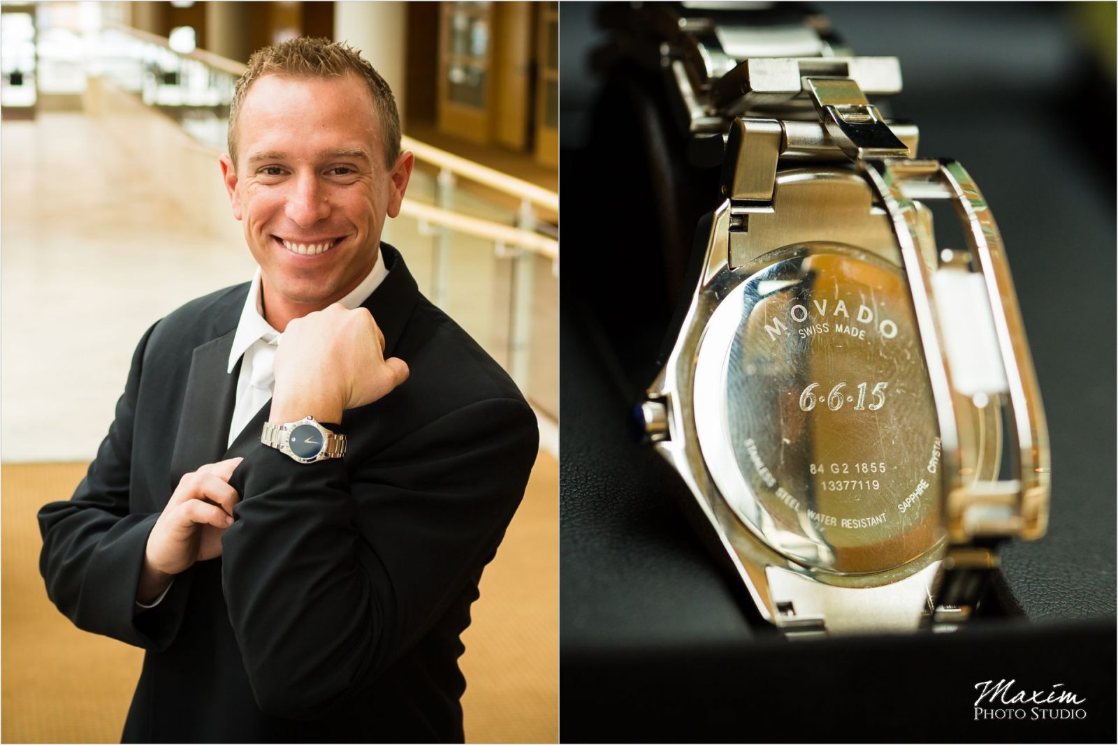 Schuster Center Wedding groom gift Movado
