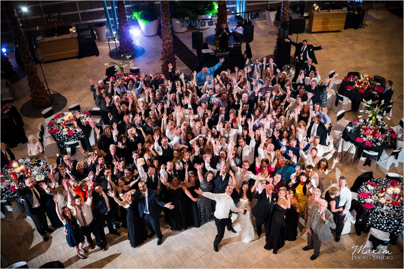 Schuster Center Party Pleasers Wedding Photography Group Photo