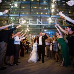 Schuster Center Sparklers Wedding Photography