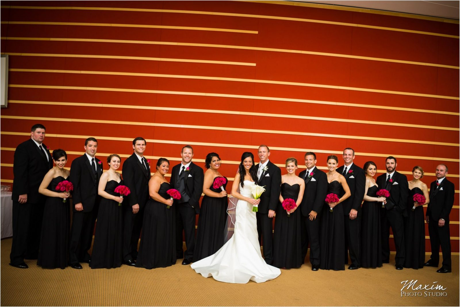 Schuster Center Dayton Ohio Bride Groom portraits