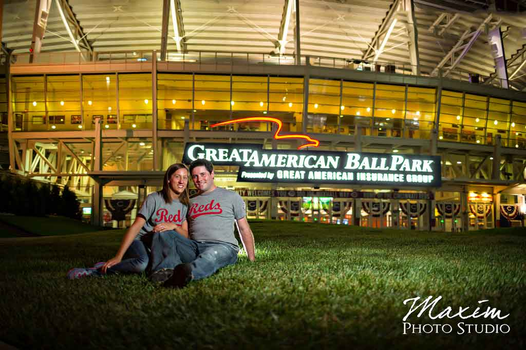 great american ball park cincinnati engagement