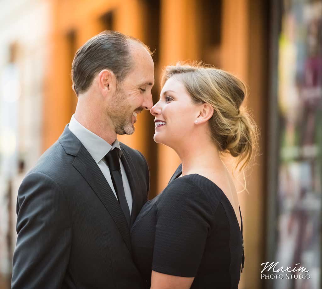 Downtown Cincinnati Engagement Taft Theater