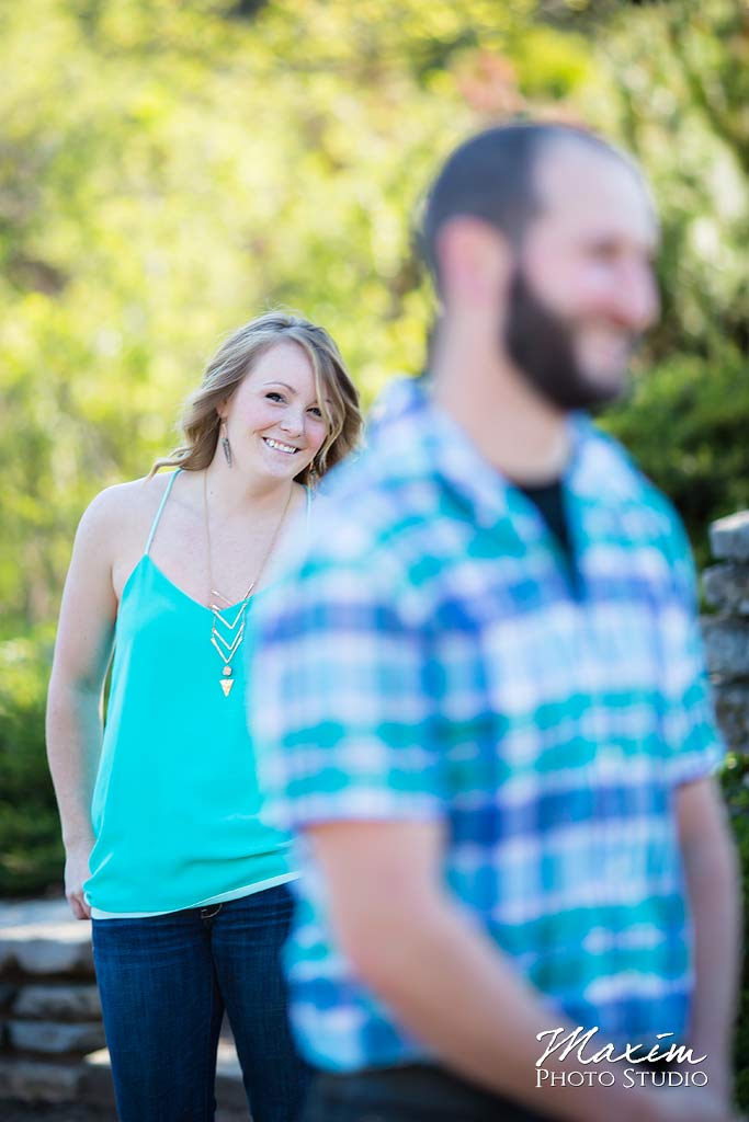 Cox Arboretum Engagement Photograph